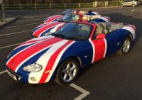 Austin Powers, Union Jack, Union jag, Car wrapping, car vynil, colour change, car styling, matt colours, vynil wrap, window tinting, automotive films
