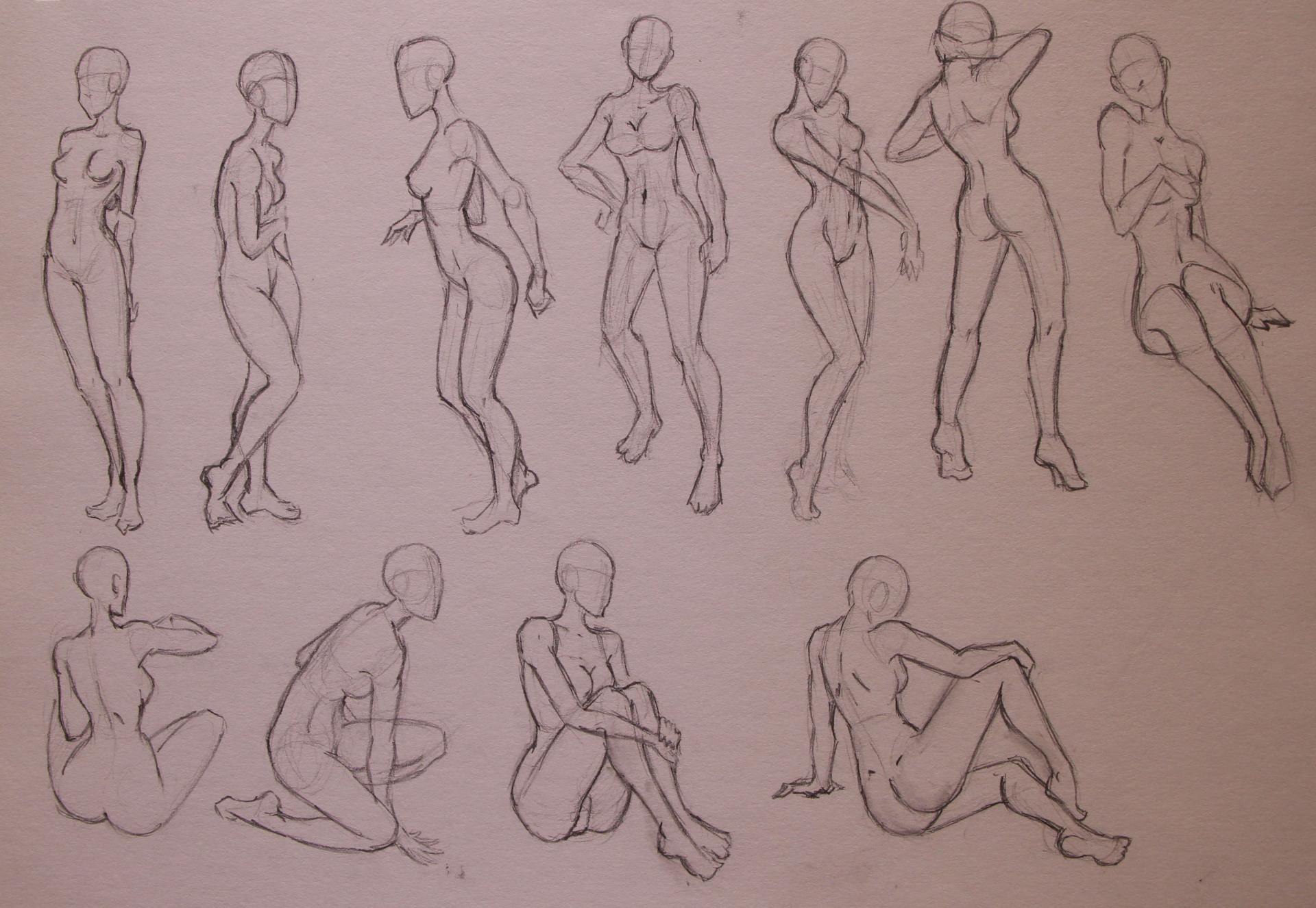 Anatomy Study - Female Poses