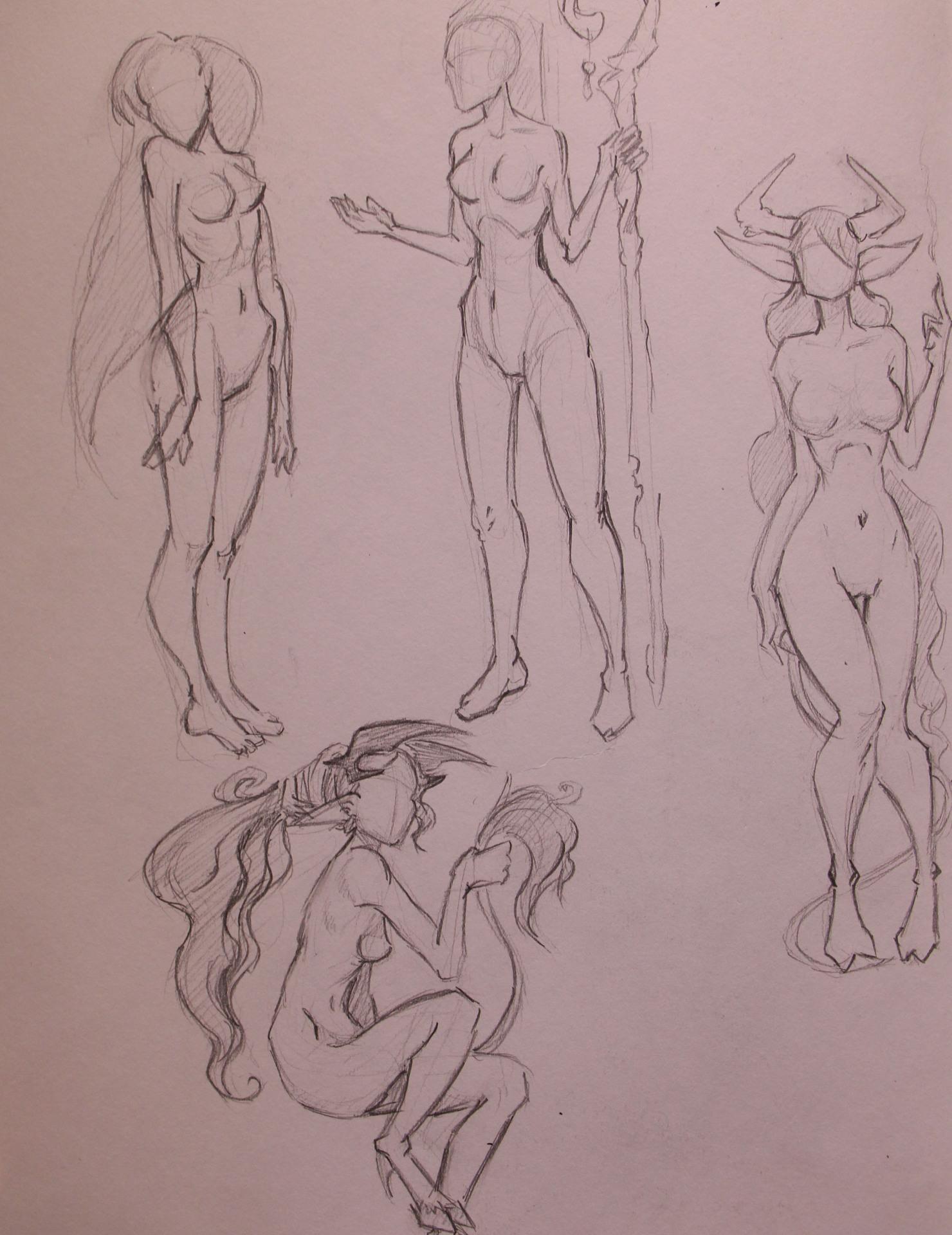 Anatomy Study - Female Poses Fantasy
