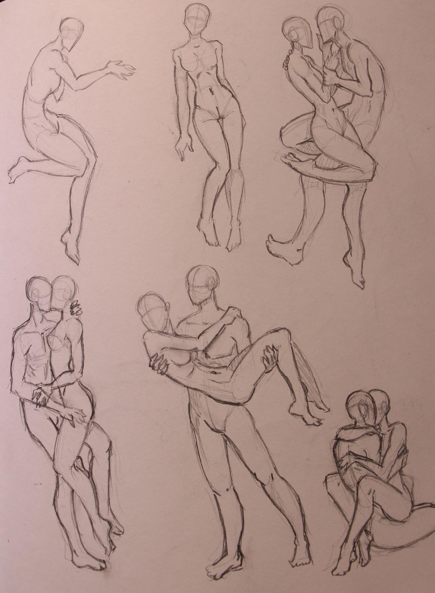 Anatomy Study - Couple Poses