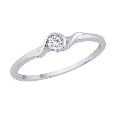Diamond Ring 1/10cttw; 10kt white