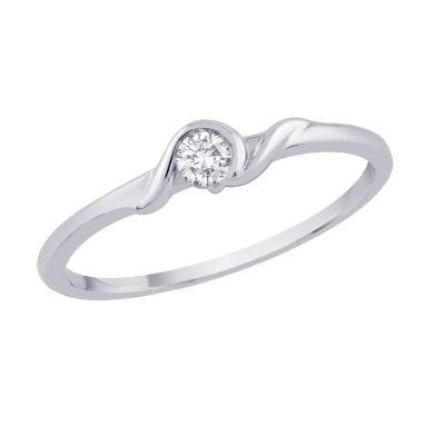 Diamond Ring 1/10cttw; 10kt white