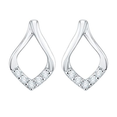 10k white Pendant and Earring Set Earrings: 1/20ct total weight