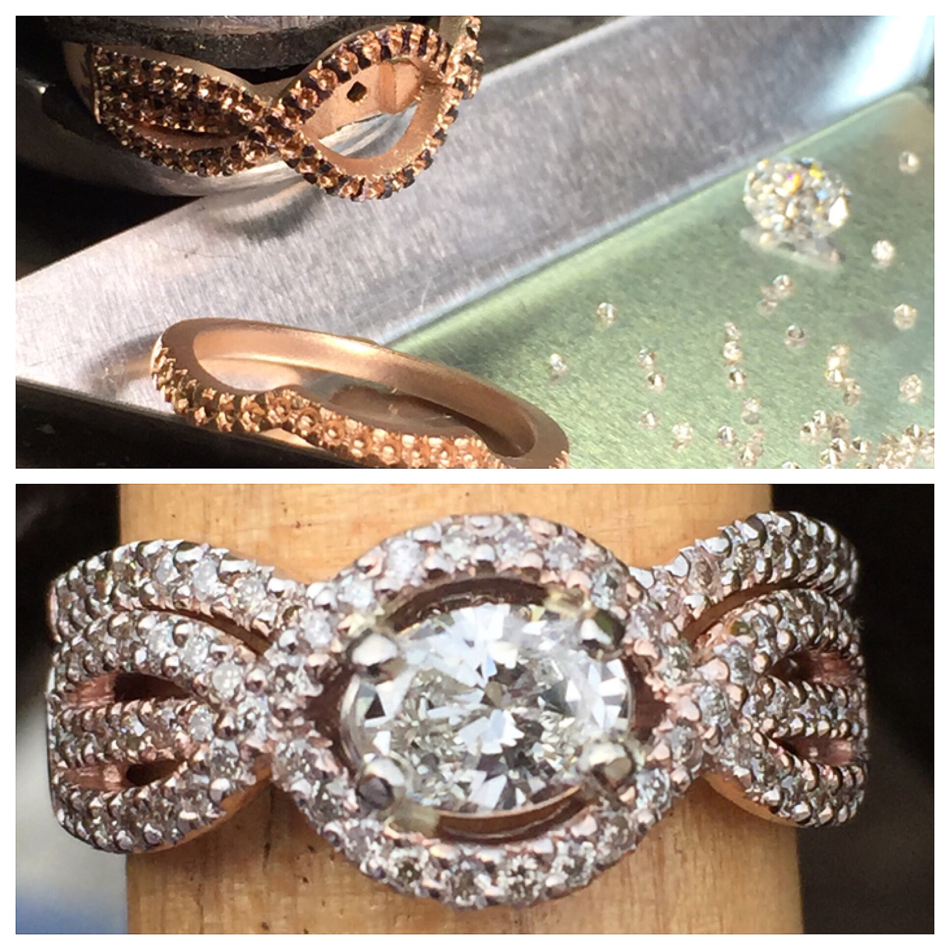 Diamond Wedding Set Ring
