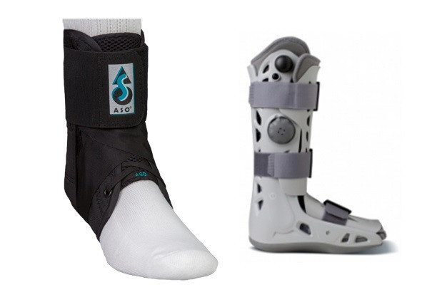 ankle support aircast aso ankle injury