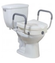 Toilet sear riser with arms