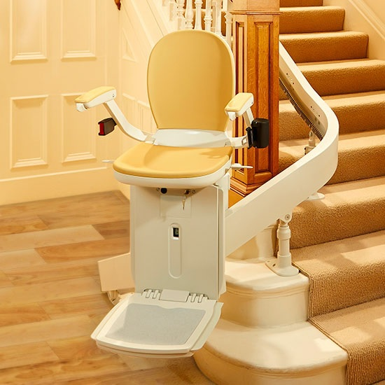 Stair lift stairlift curved staircase fall