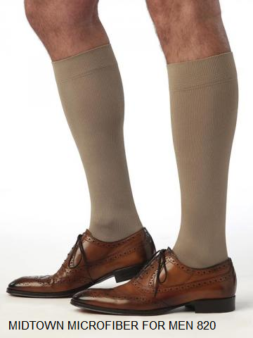 Mens midtown microfiber compression medical stockings Calgary NW knee high thigh high