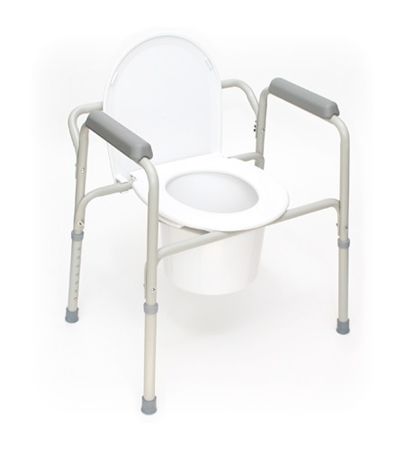 manual commode for patient room and toilet
