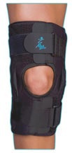 knee brace strong quality hinges medical suppliy calgary nw Open popliteal Outer closure straps