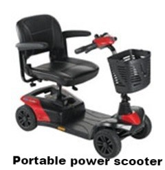 Portable scooter colibre for easy carrying shopping.