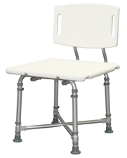Bariatric bath bench with back. Heavy duty