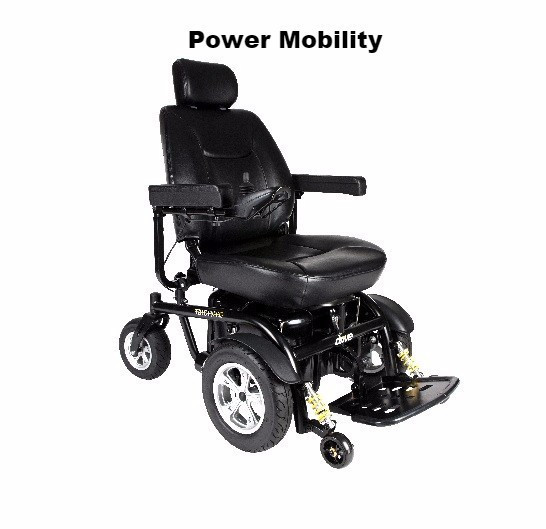 Power Mid wheeled motorised chair