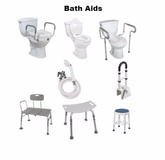 Equipment used in the bathroom for safety covered by aadl.