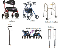 Manual mobility equipment for elderly and recouperation
