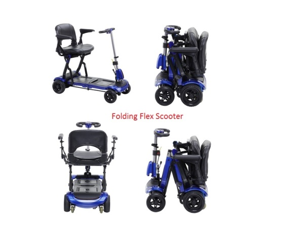 Traveling folding light weight scooter