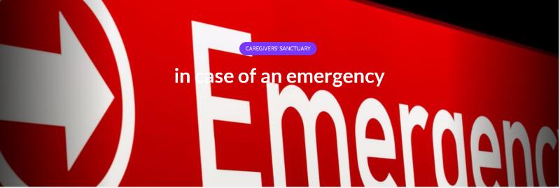 Caregivers visit the emergency room