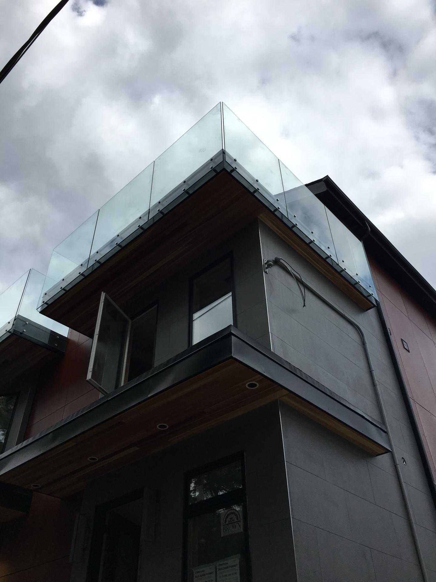 Modern Townhome Glass Railings