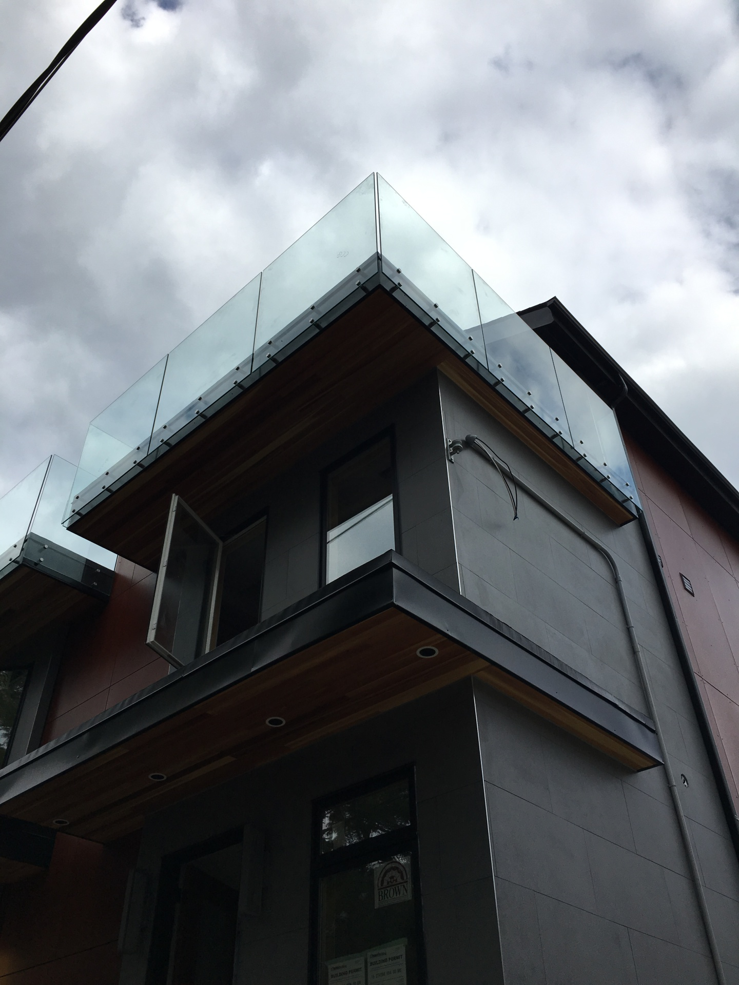 Modern Townhome Glass Railings