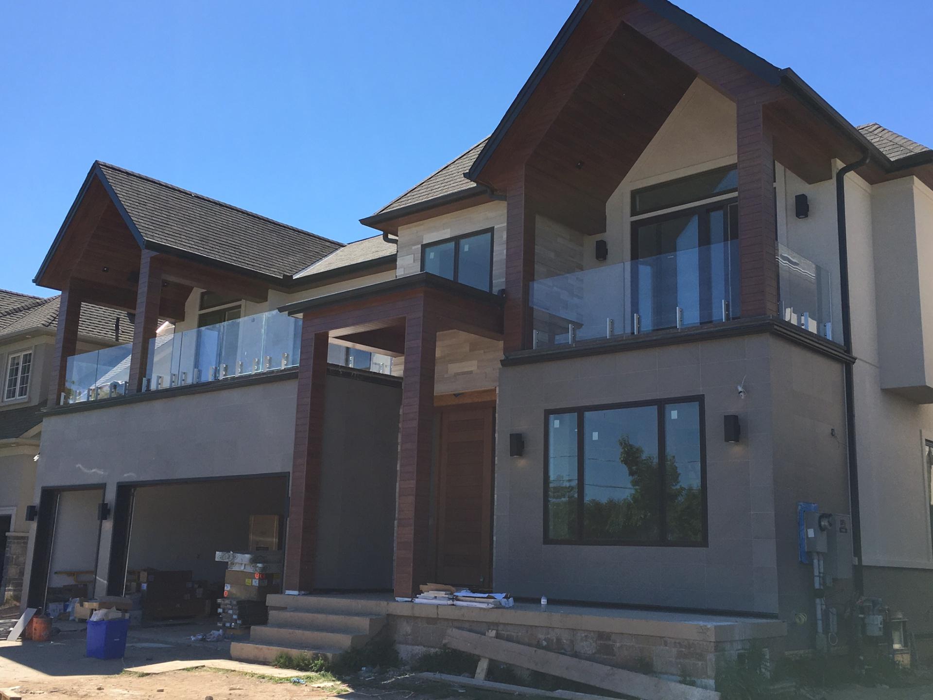 exterior glass railings