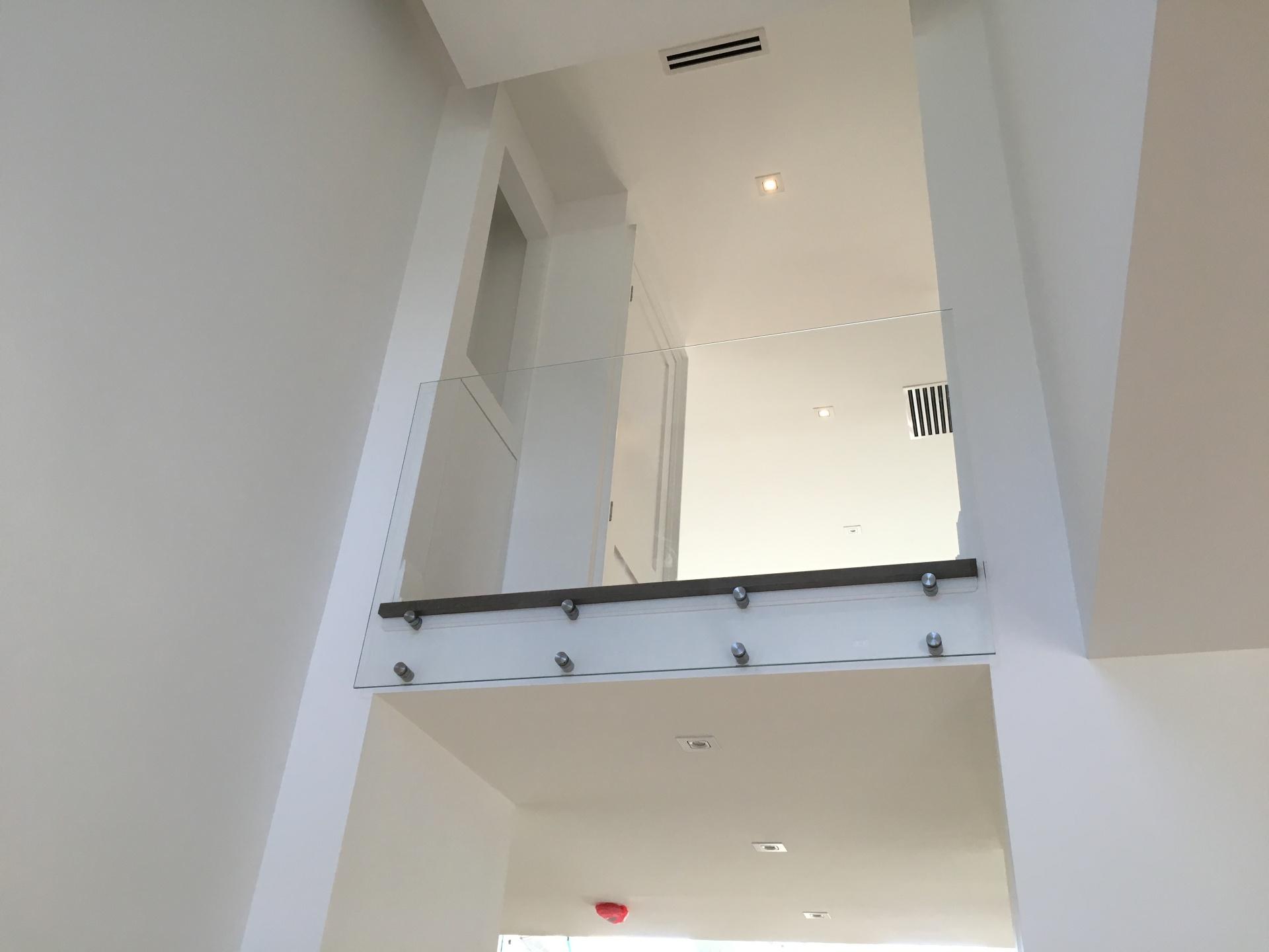 starphire glass railing