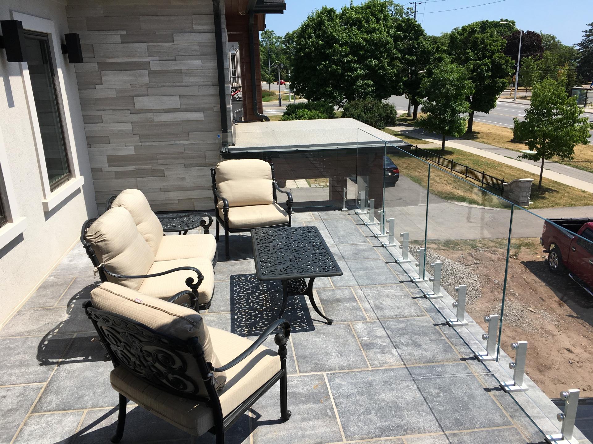 patio Glass Railinga