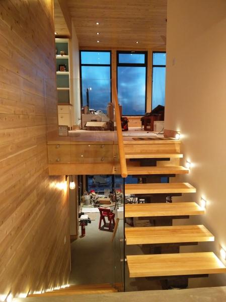 modern glass railing