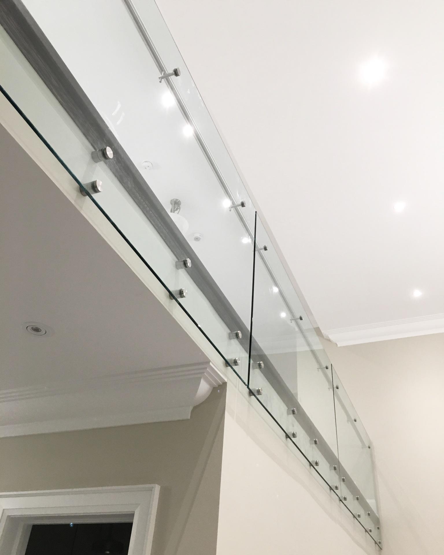 glass railings interior