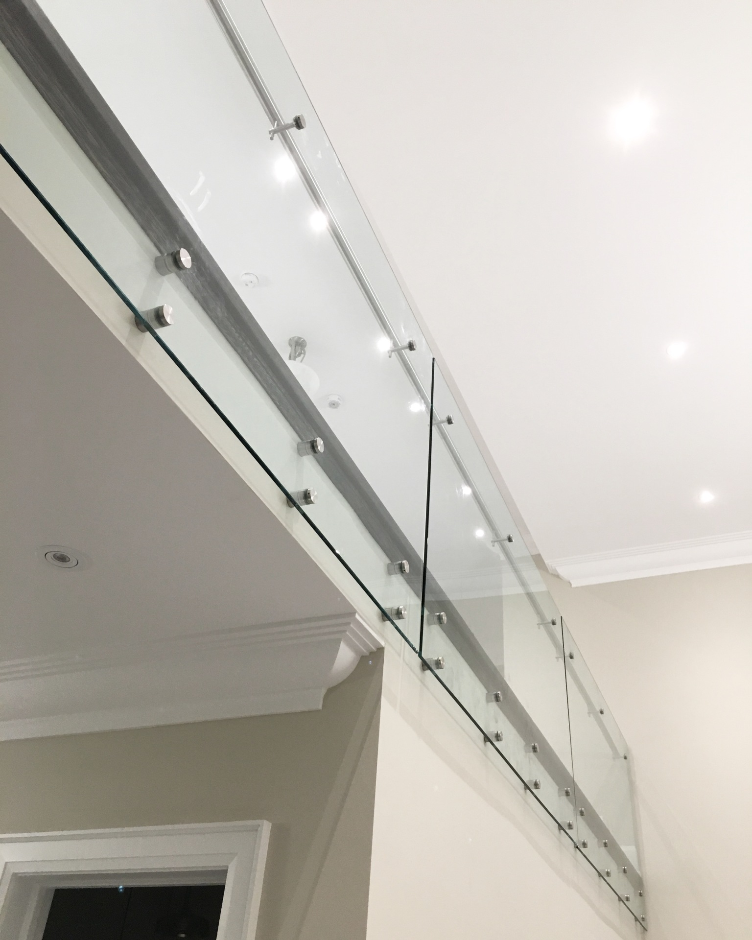 glass railings interior