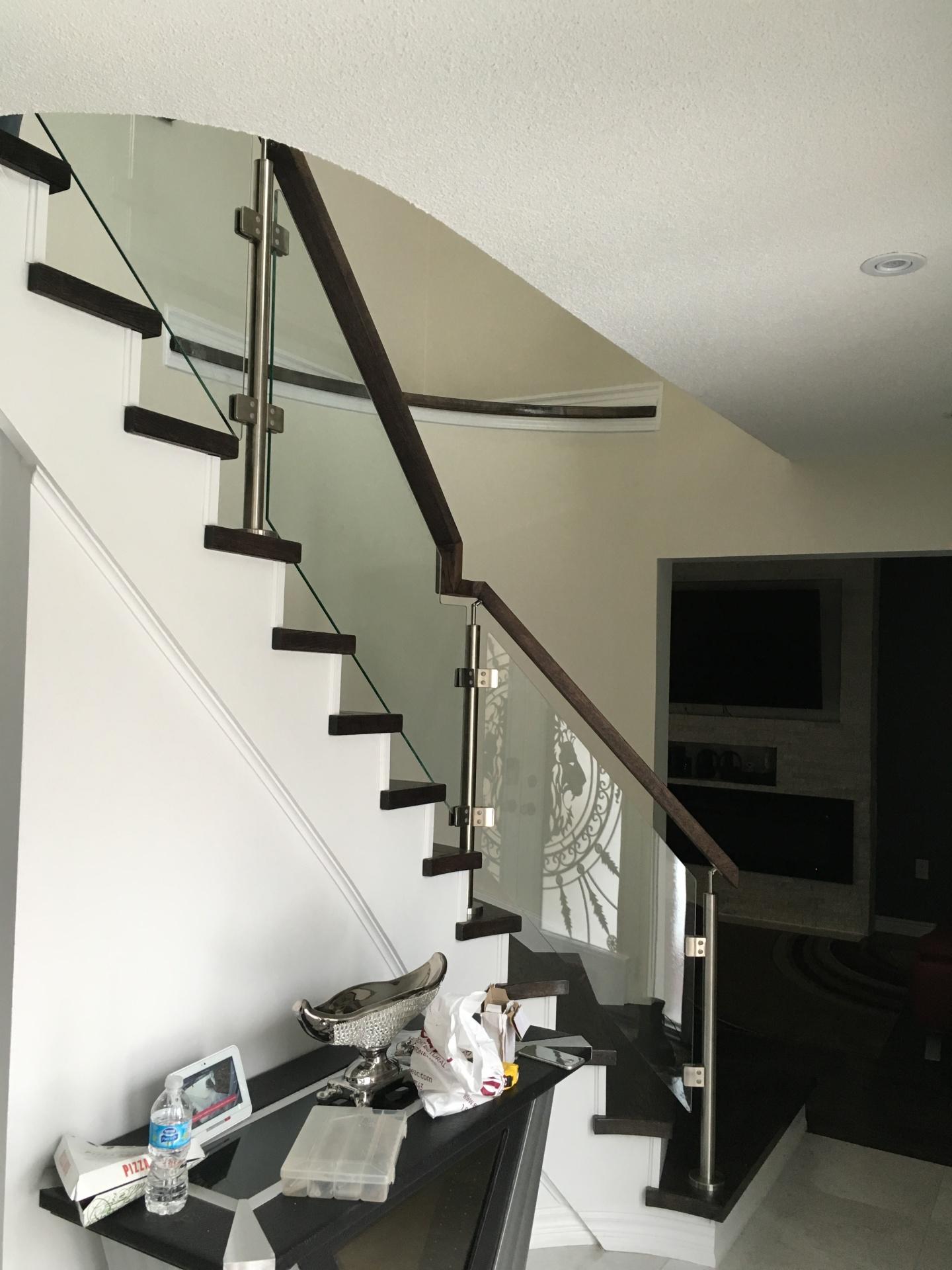 Full post glass railings