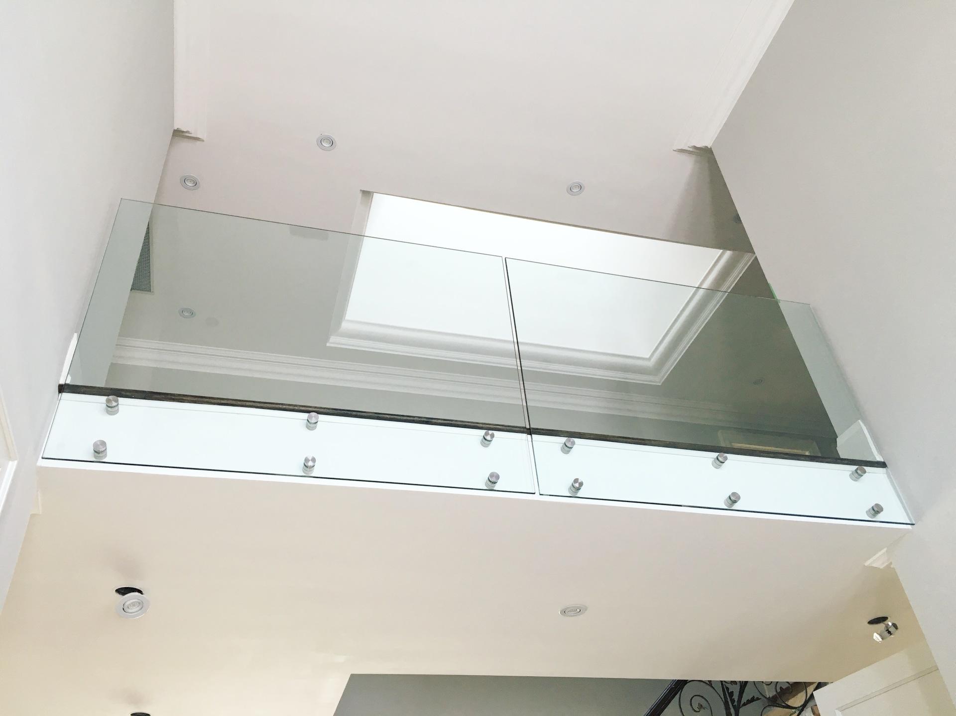 frameless facia glass railings