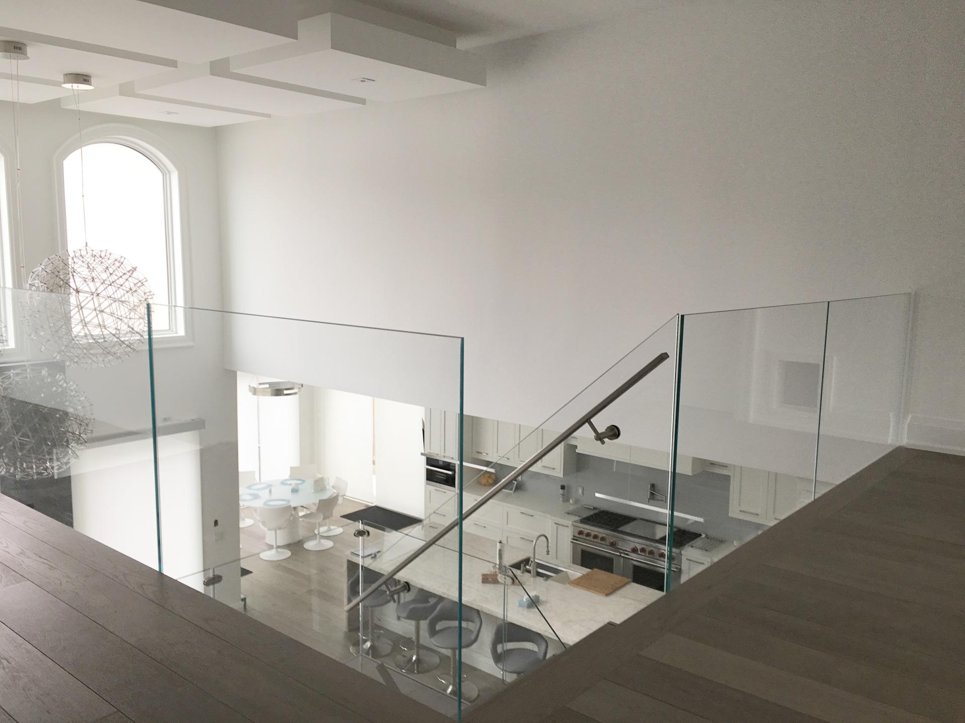frameless Starphire Glass railings