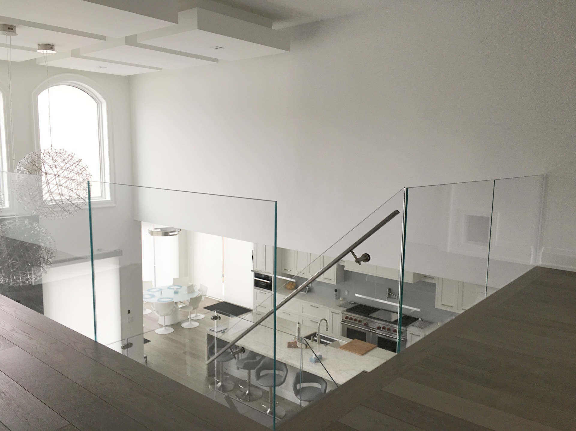 frameless Starphire Glass railings