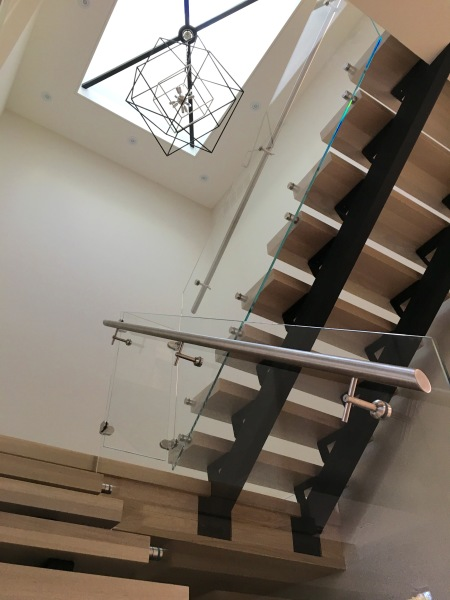handrail with glass railings