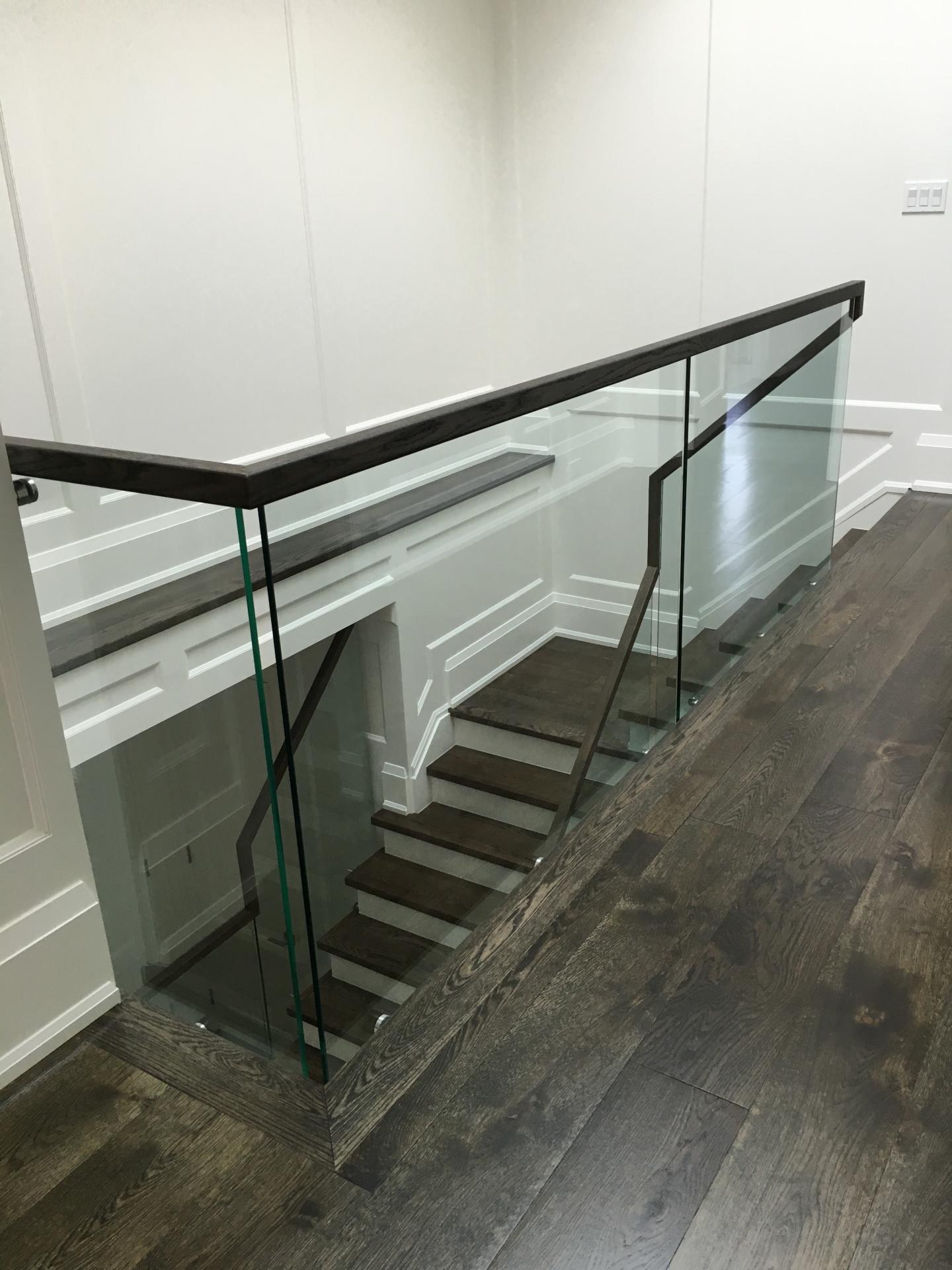 glass railings continous handrail