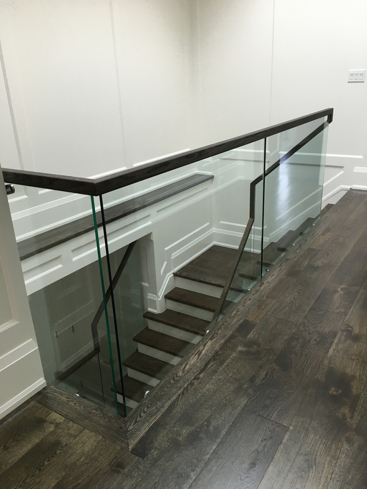 glass railings continous handrail
