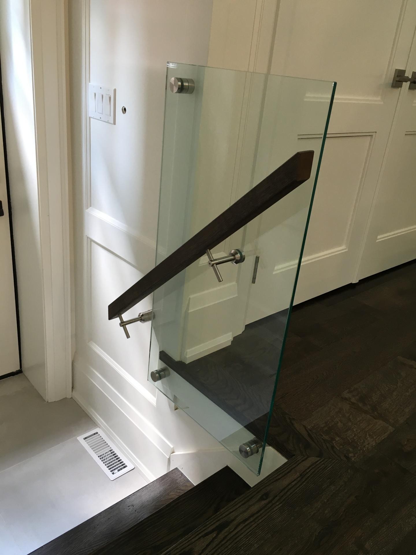 interior glass railing