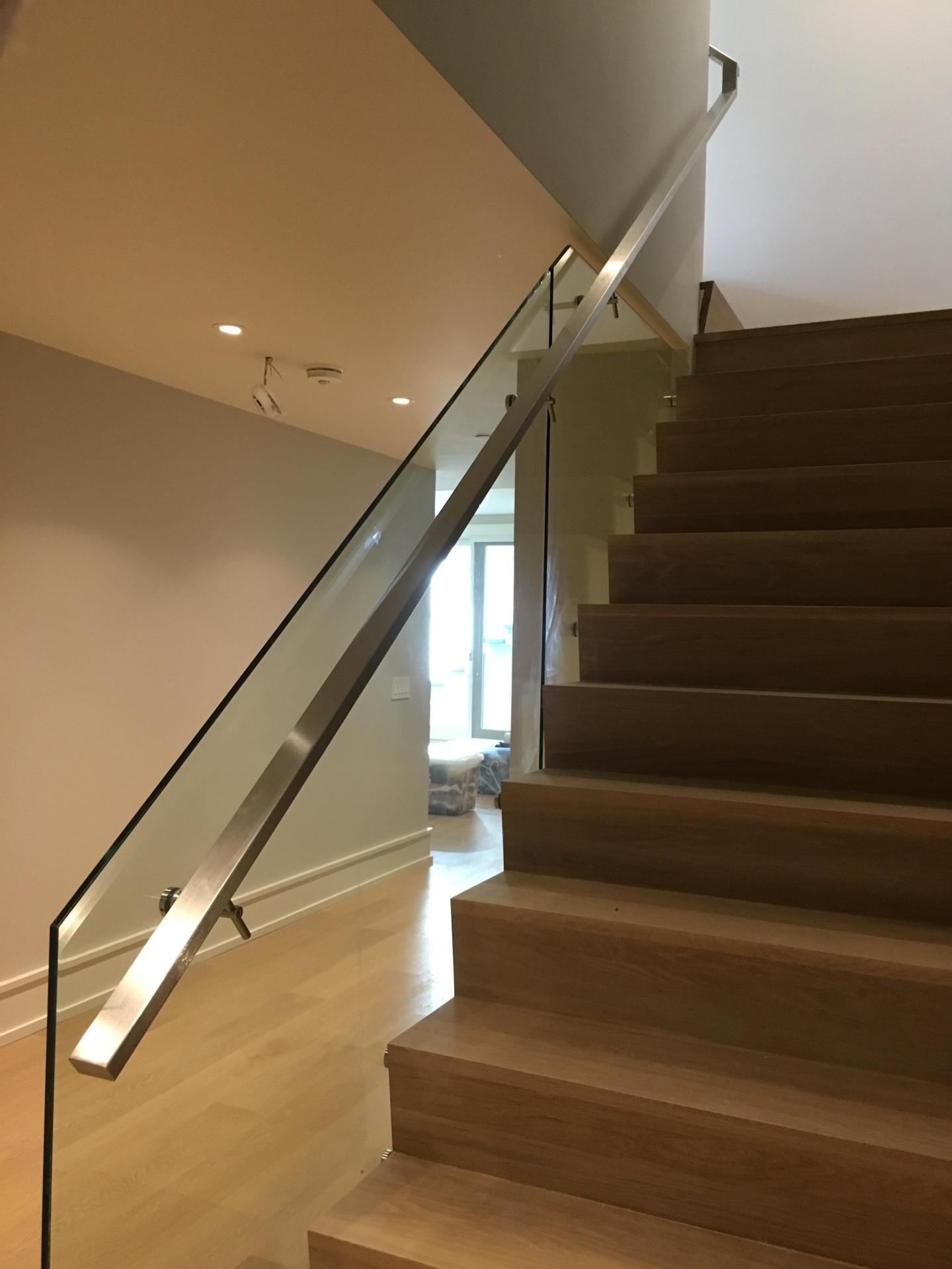 Glass Railing Steel handrail