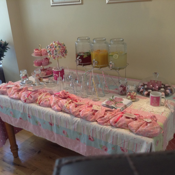 Hen Party table with lovely treats