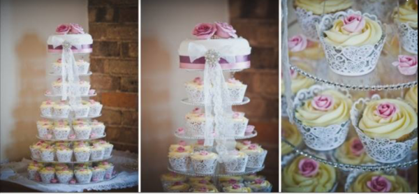 Wedding cake and cup cake stand