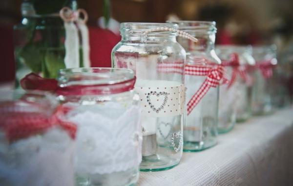 Pretty jam jars