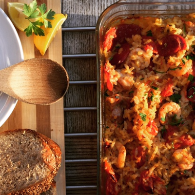 Eat2Win Easy Bake Paella: Clean Eating Recipe