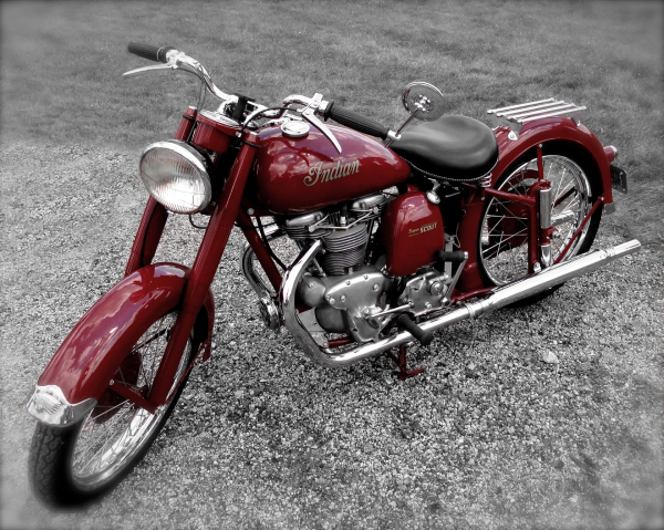 Vintage Red Indian On B&W