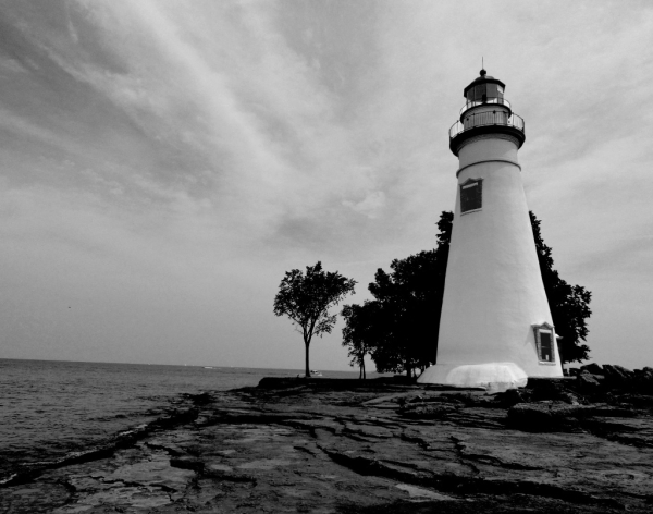 Marblehead Lighthouse B&W