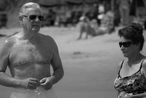 Elderly Couple at the Beach