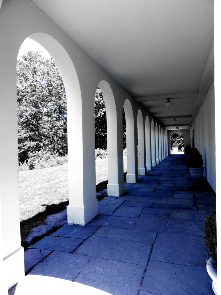 White Arches on Blue