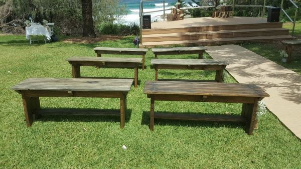 Timber Bench Seats