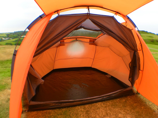 Separate inner tent clips in for sleeping