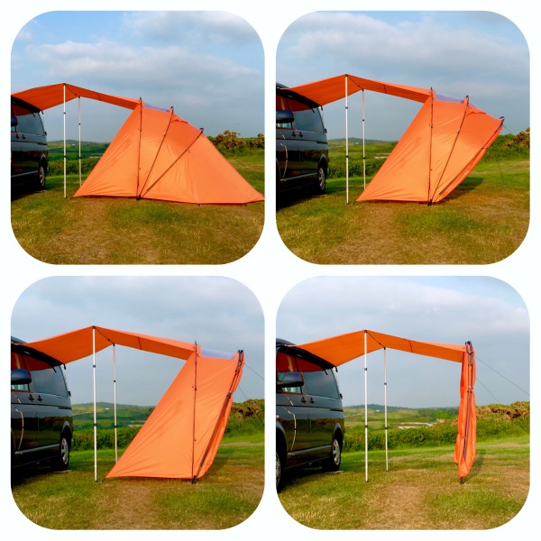 Folds up to a simple sun canopy
