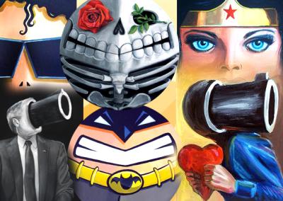 Collage of Ray Arcadio's art